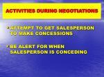 activities during negotiations1