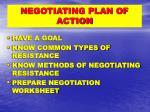negotiating plan of action