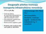 daugavpils pils tas tramvaju transporta infrastrukt ras renov cija