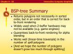 bsp tree summary