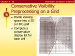 conservative visibility preprocessing on a grid