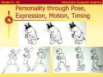 personality through pose expression motion timing