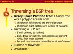 traversing a bsp tree