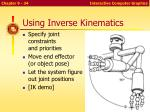 using inverse kinematics