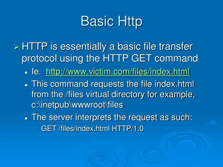 Basic Http