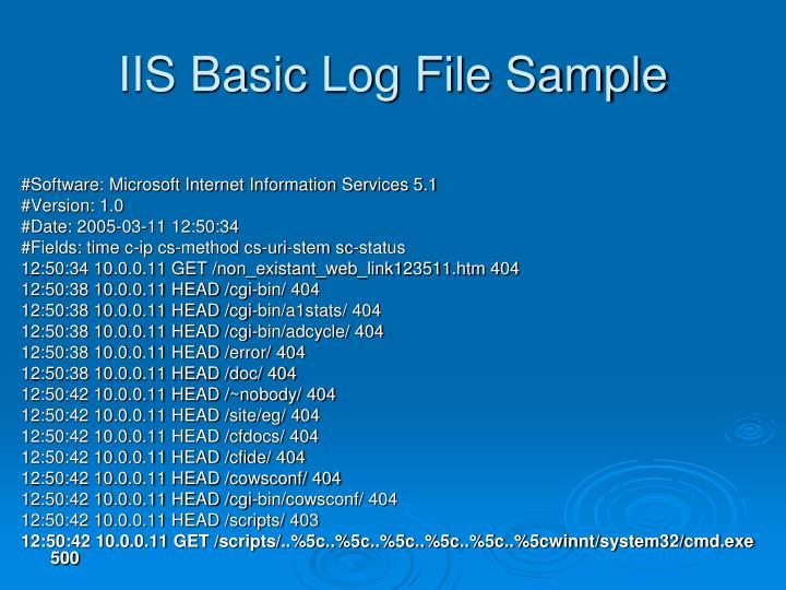 IIS Basic Log File Sample