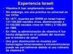experiencia israel