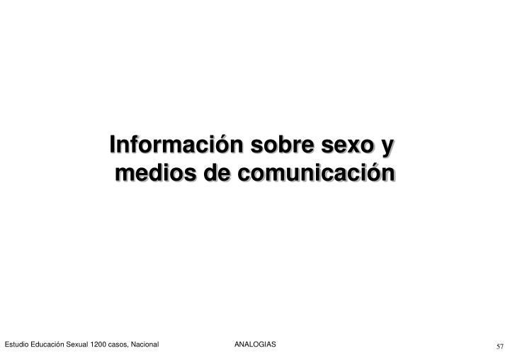 Información sobre sexo y