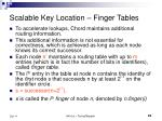scalable key location finger tables