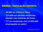 brasil popula o exposta