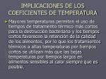 implicaciones de los coeficientes de temperatura