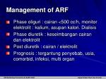management of arf