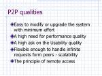 p2p qualities