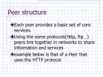 peer structure