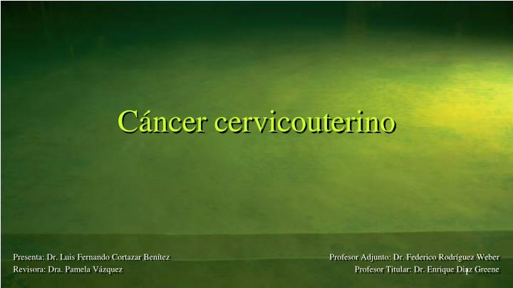 c ncer cervicouterino n.