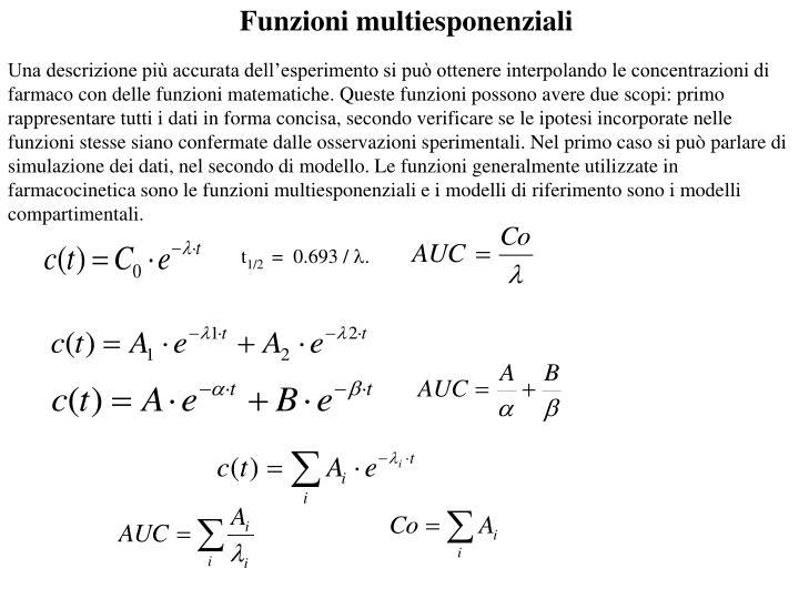 Funzioni multiesponenziali