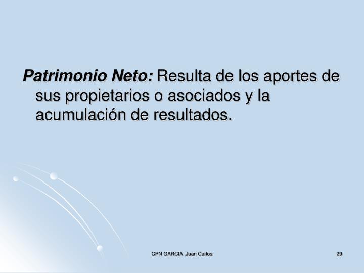 Patrimonio Neto: