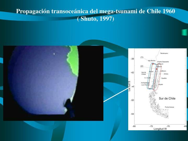 Propagación transoceánica del mega-tsunami de Chile 1960