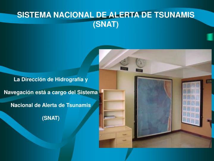 SISTEMA NACIONAL DE ALERTA DE TSUNAMIS