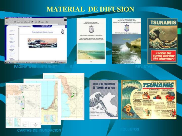 MATERIAL  DE DIFUSION