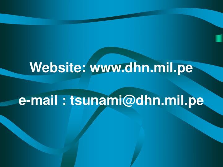 Website: www.dhn.mil.pe