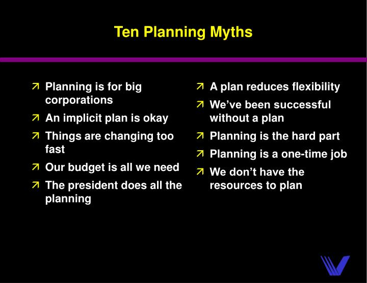 Planning is for big corporations
