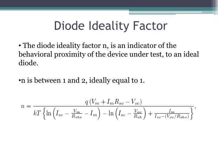 Diode Ideality Factor