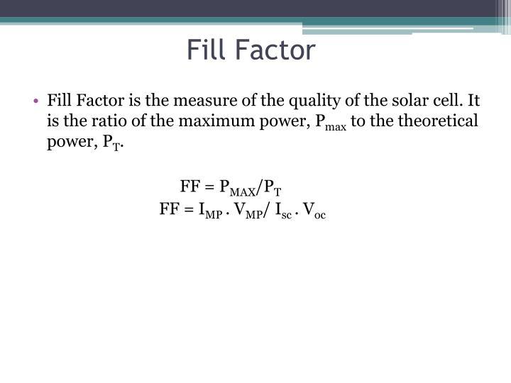 Fill Factor