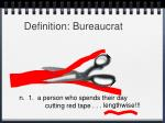 definition bureaucrat