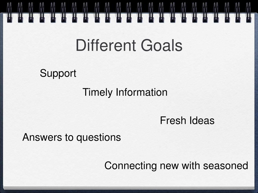 Different Goals