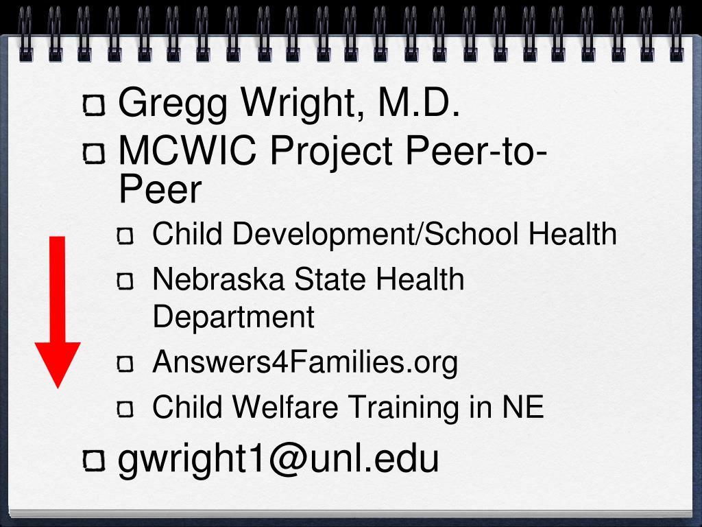 Gregg Wright, M.D.