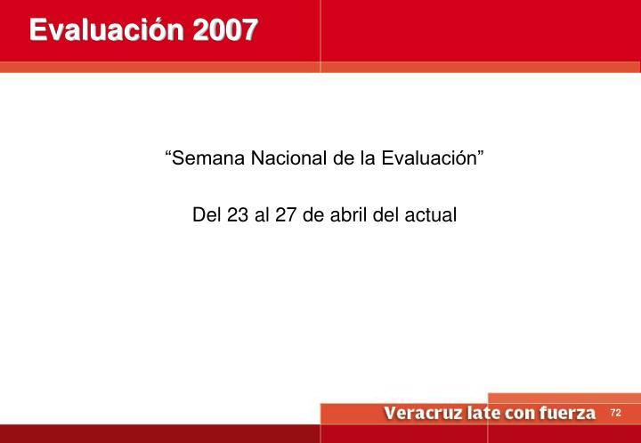 Evaluación 2007