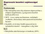depresszi kezel si saj toss gai iii