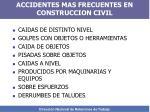 accidentes mas frecuentes en construccion civil