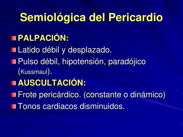 Semiológica del Pericardio