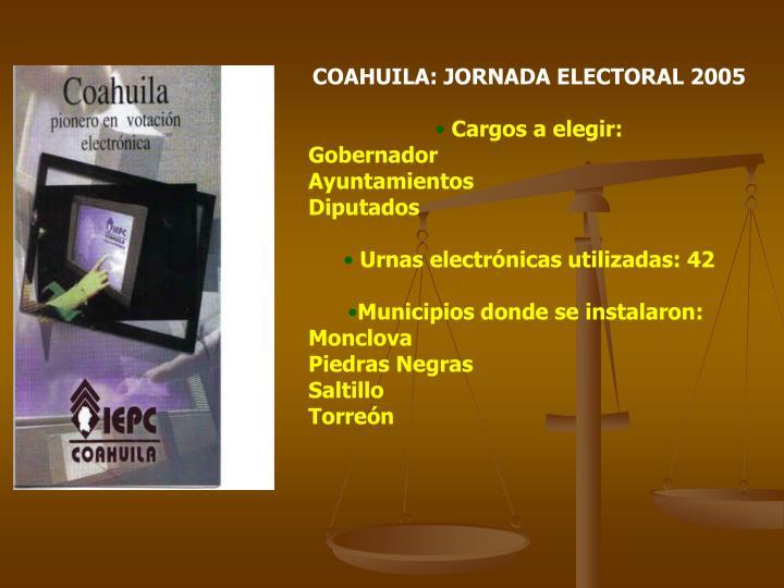 COAHUILA: JORNADA ELECTORAL 2005