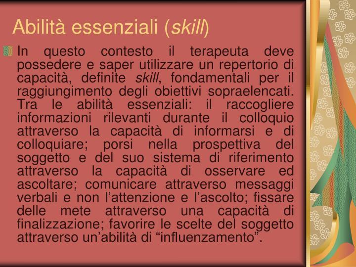 Abilità essenziali (
