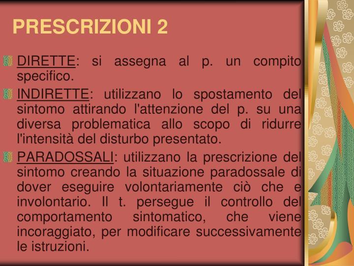 PRESCRIZIONI 2