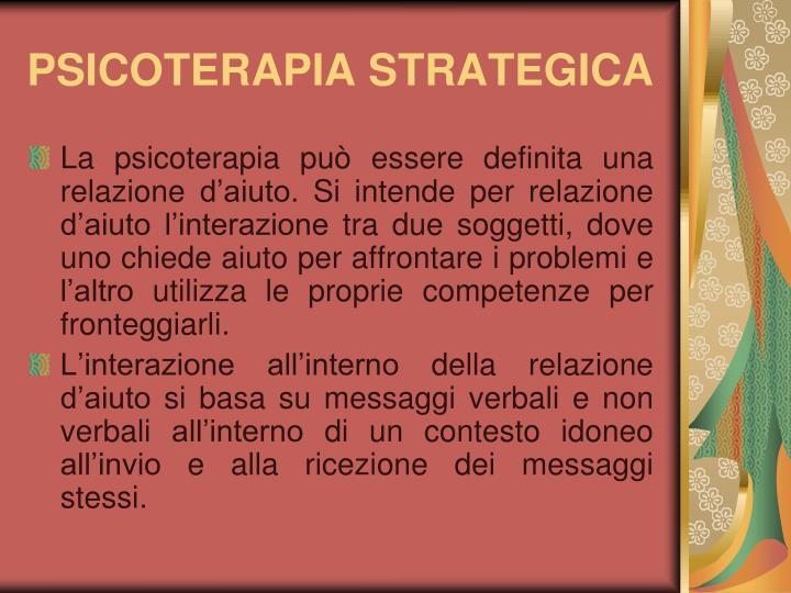 Psicoterapia strategica