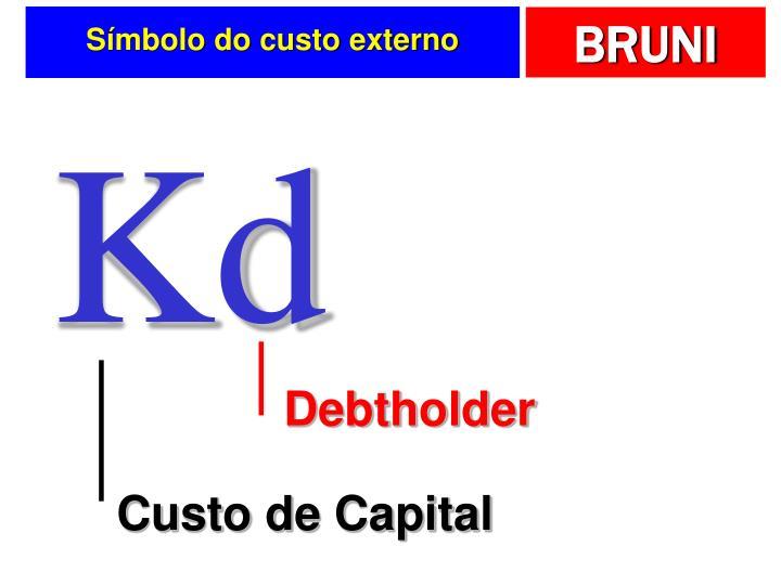 Símbolo do custo externo
