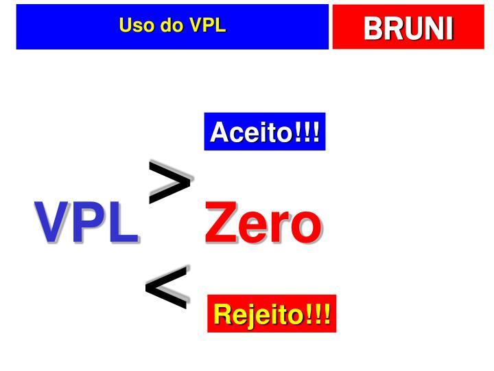 Uso do VPL