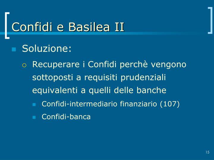 Confidi e Basilea II