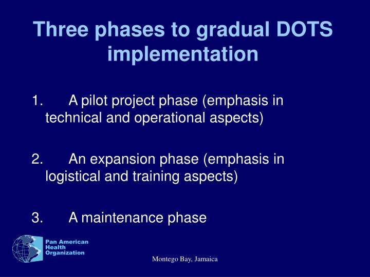 Three phases to gradual DOTS implementation
