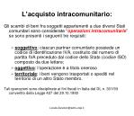 l acquisto intracomunitario