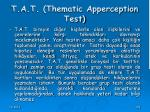 t a t thematic apperception test