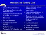 medical and nursing care