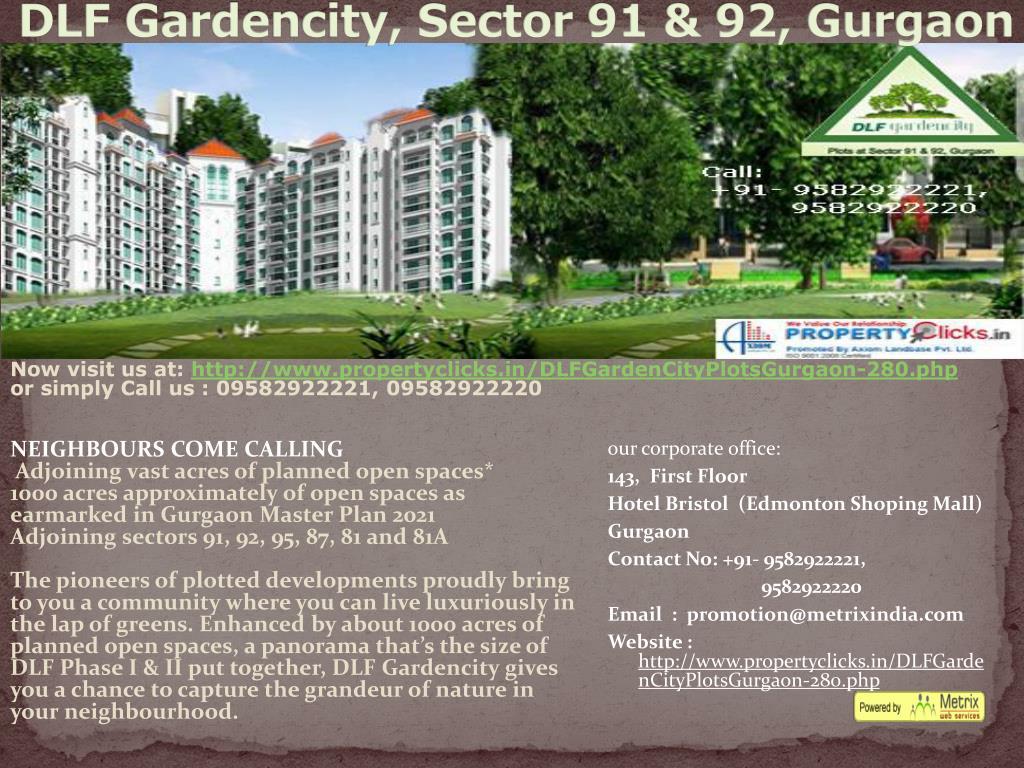 dlf gardencity sector 91 92 gurgaon l.
