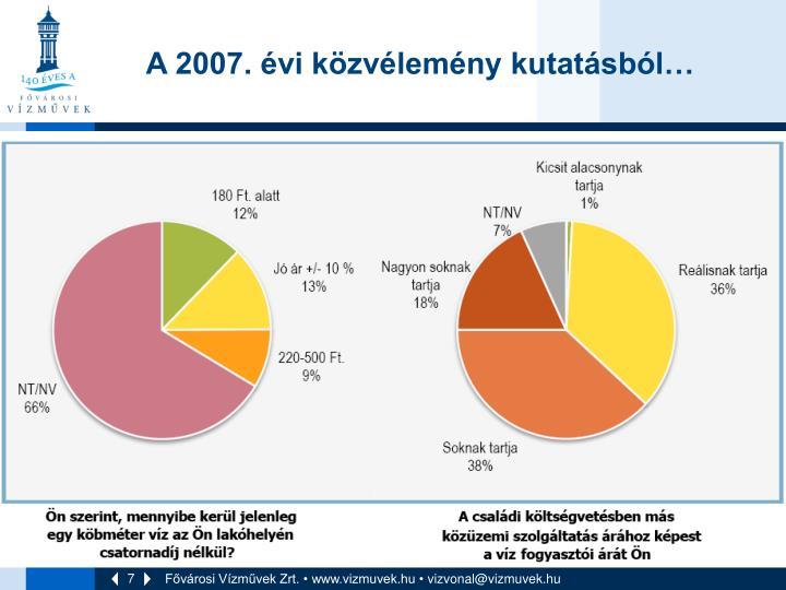 A 2007. évi közvélemény kutatásból…