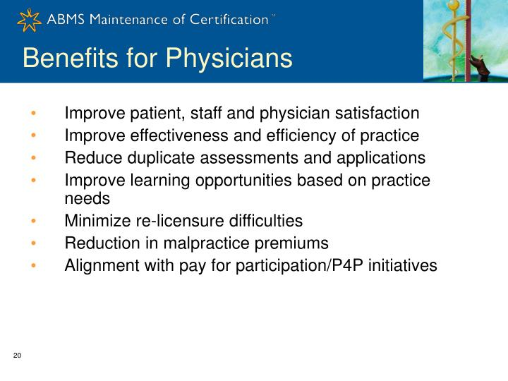 Benefits for Physicians