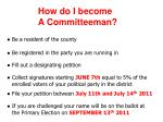 how do i become a committeeman